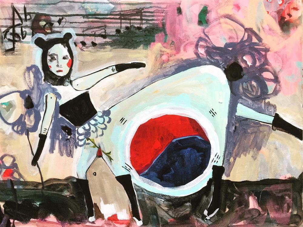 """538 Korean Operetta"" original fine art by Jenny Doh"