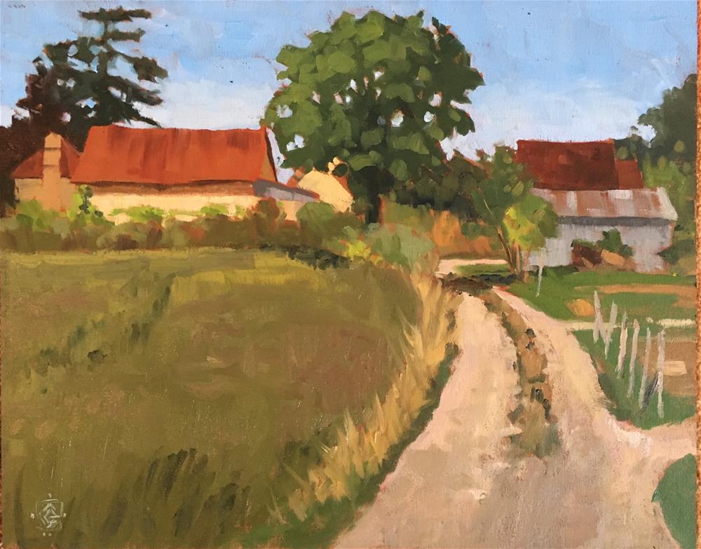 """Veroux Farm, France"" original fine art by Carol Granger"