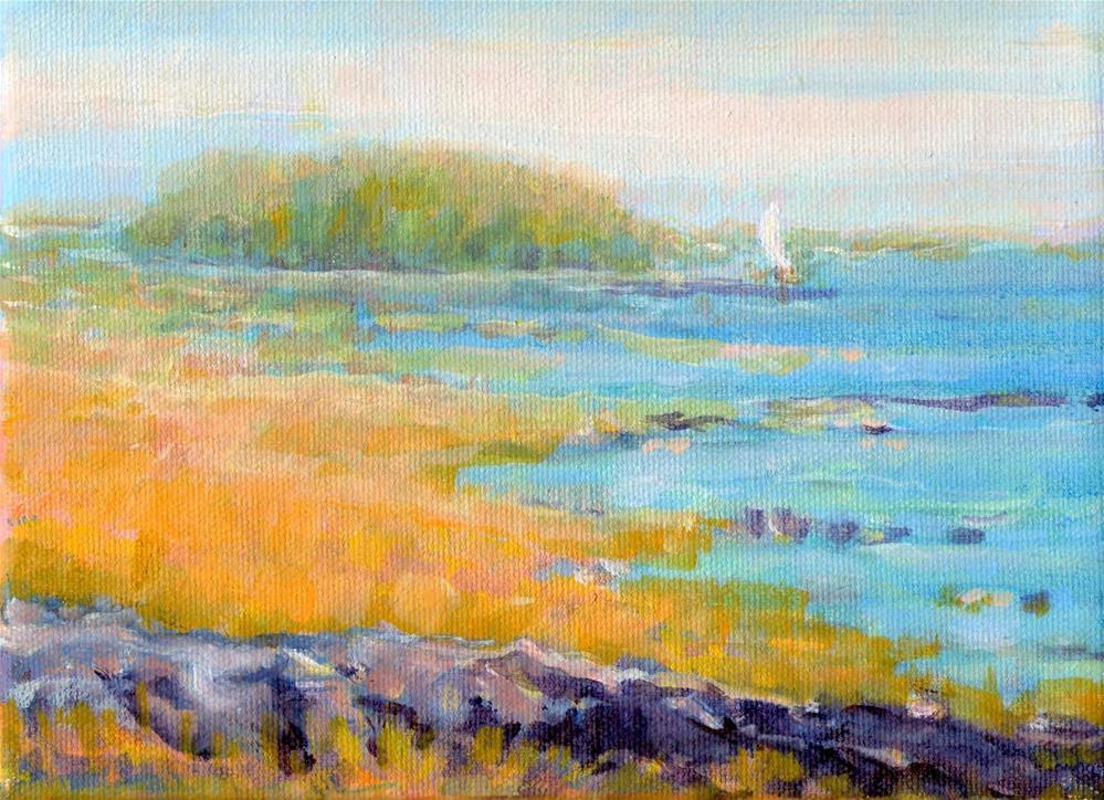 """""""Island Off Shore"""" original fine art by J Kelsey"""
