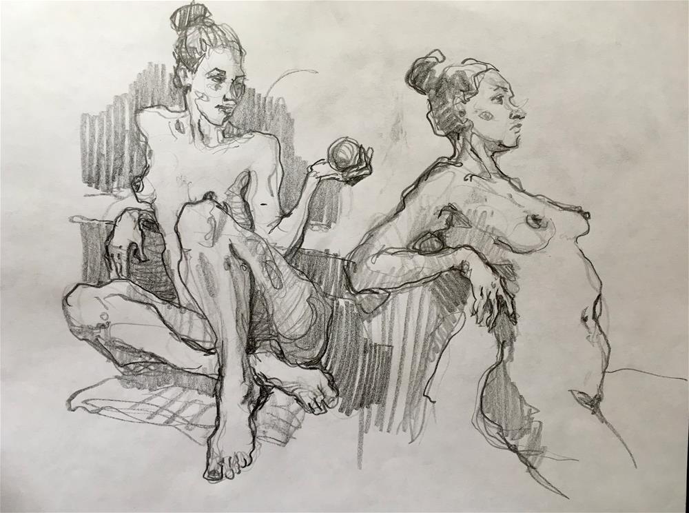 """Figure56"" original fine art by Katya Minkina"