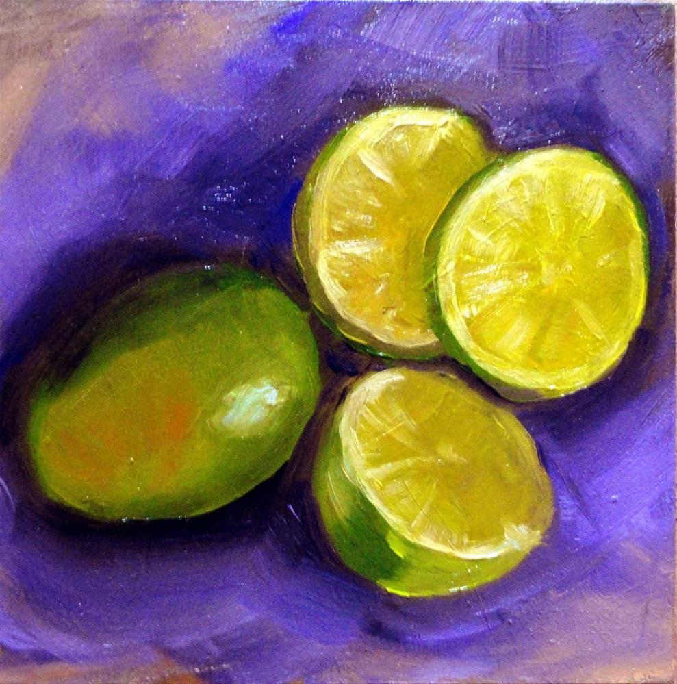 """Limes"" original fine art by Cietha Wilson"