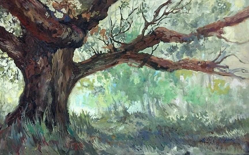 """Cottonwoods"" original fine art by Mary Maxam"