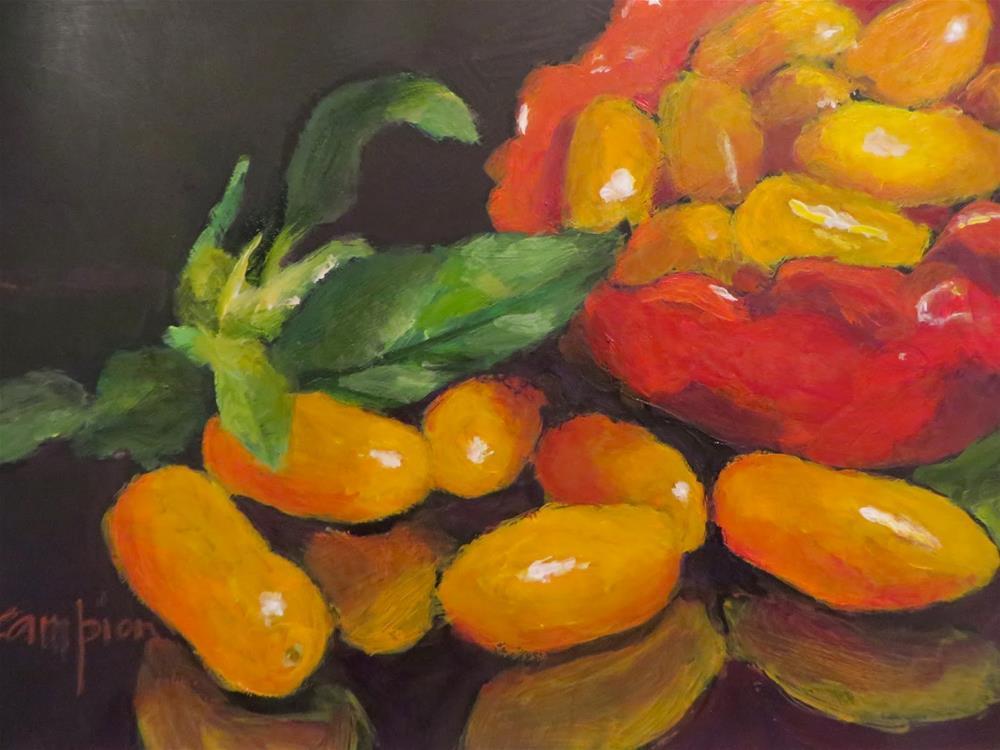 """""""693 Golden Nuggets"""" original fine art by Diane Campion"""
