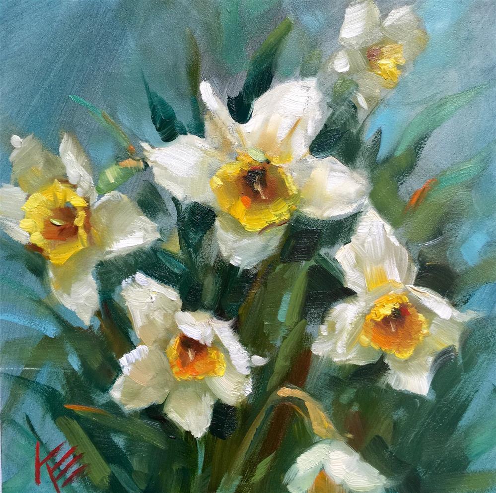 """Daffodils in Spring"" original fine art by Krista Eaton"