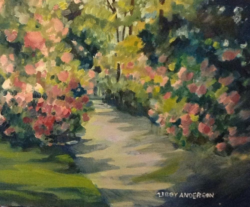 """""""Rhododendrons"""" original fine art by Libby Anderson"""