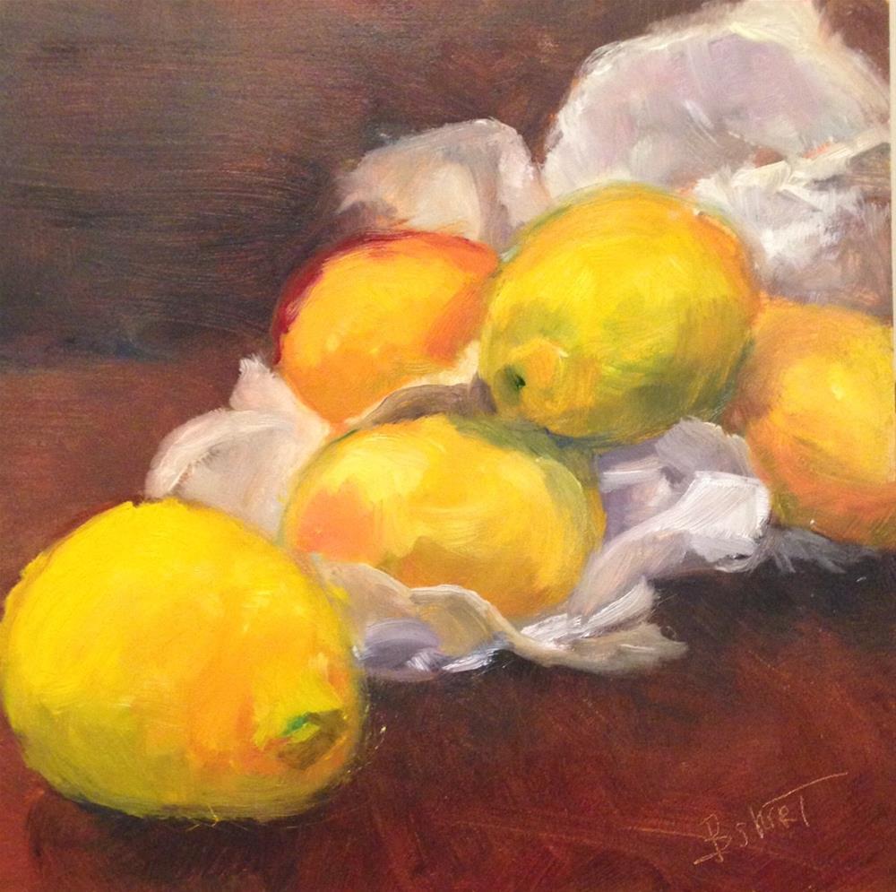 """""""day7; lemons"""" original fine art by Brenda Short"""