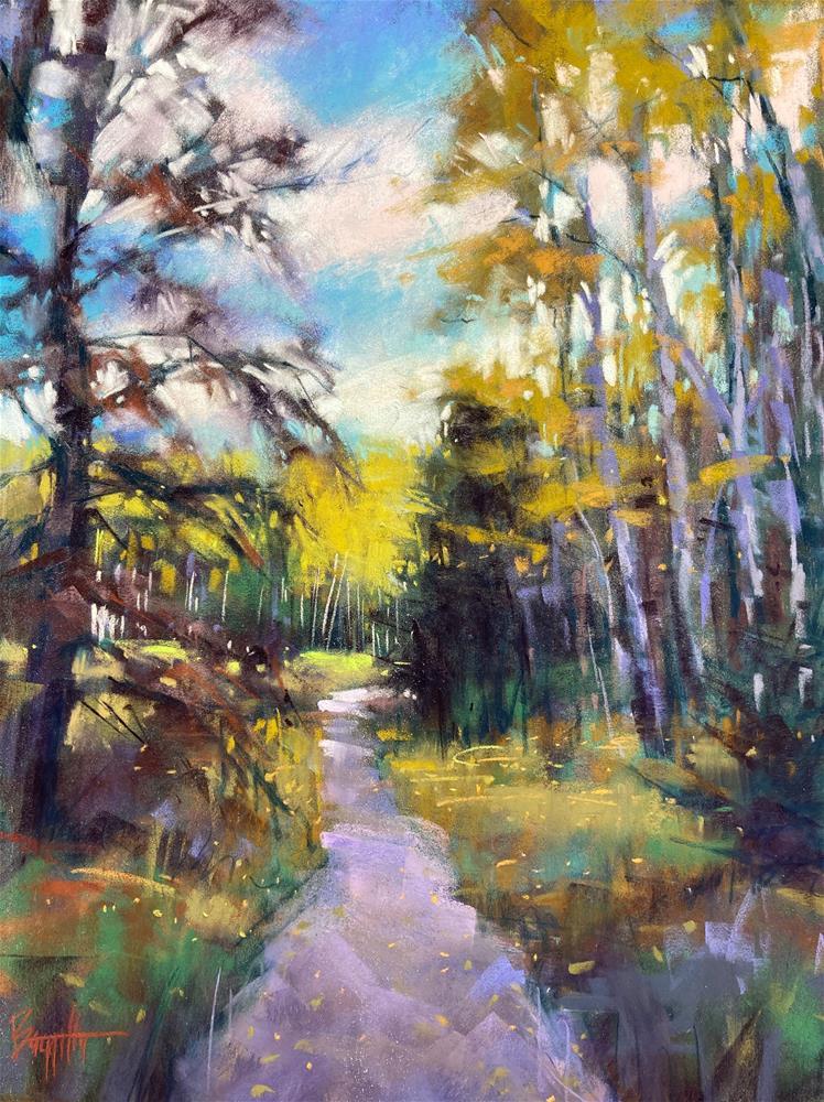 """A Light on the Path"" original fine art by Marla Baggetta"