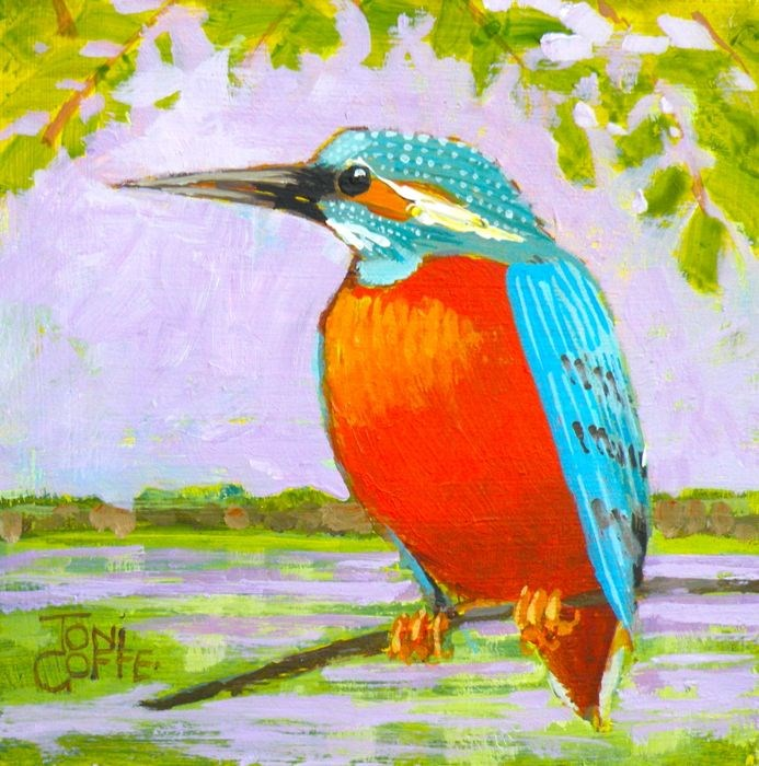 """Kingfisher"" original fine art by Toni Goffe"