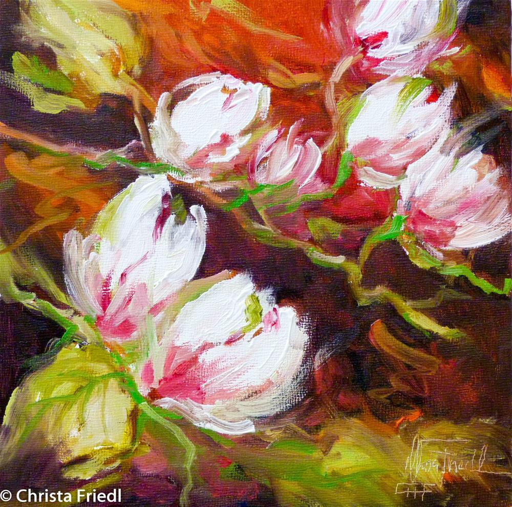 """""""Magnolia"""" original fine art by Christa Friedl"""