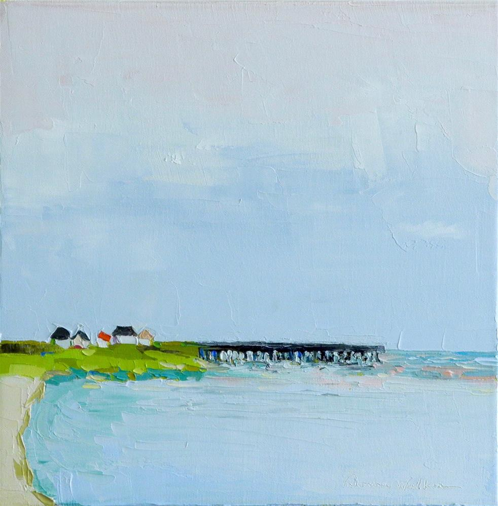 """Beachfront"" original fine art by Donna Walker"