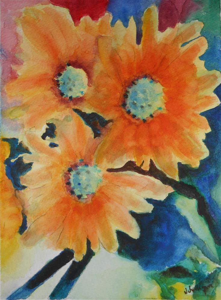 """Wild Flowers"" original fine art by Juan Velasquez"