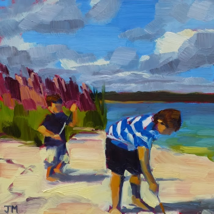 """Morning at the Beach"" original fine art by Jessica Miller"