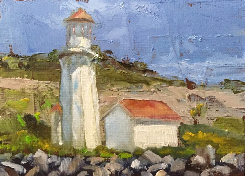 """Lighthouse, Midday"" original fine art by Gary Bruton"
