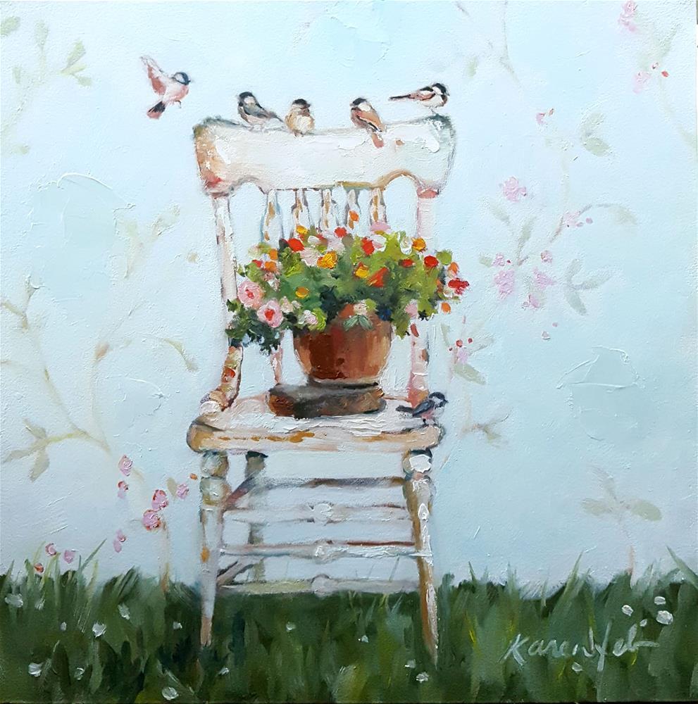 """""""High Summer Perch"""" original fine art by Karen Weber"""