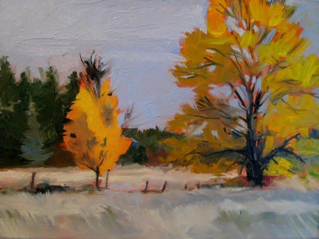 """Peaceful change  landscape oil painting"" original fine art by Robin Weiss"