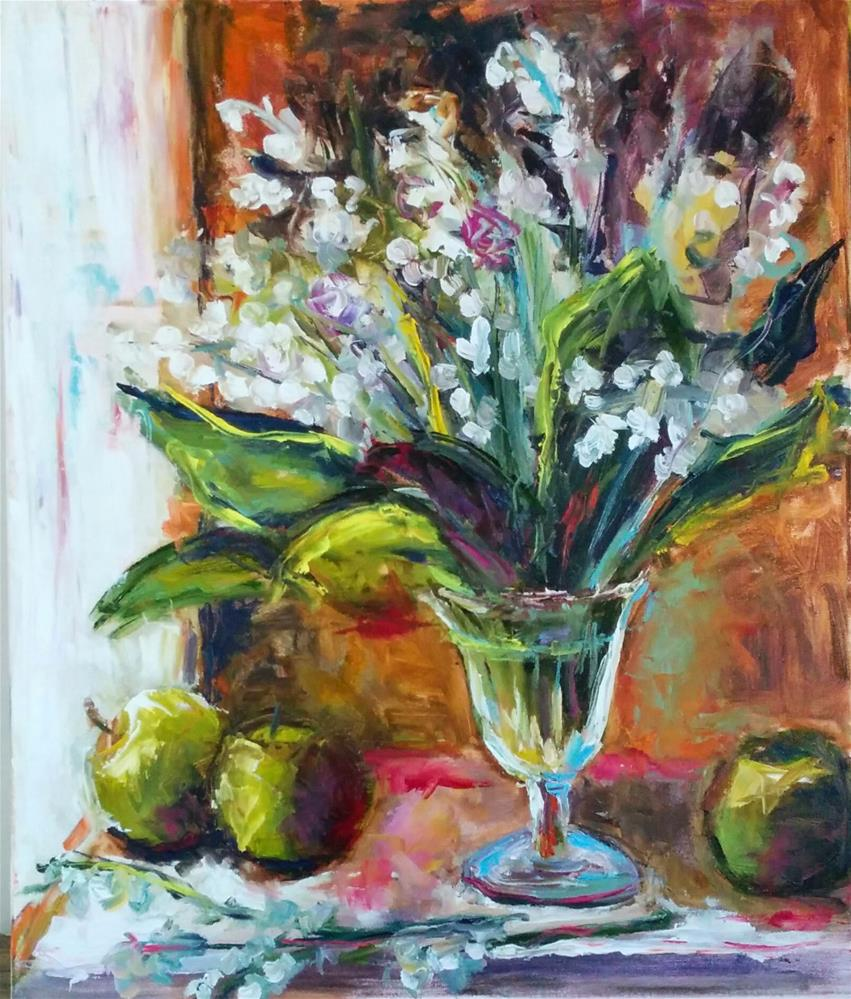 """""""Lilies of the Valley """" original fine art by pepa sand"""