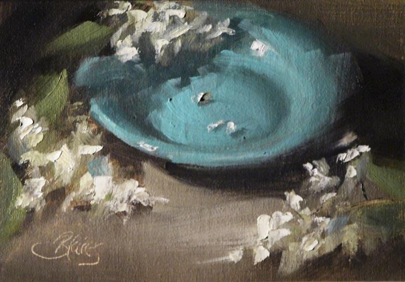 """Blooms and a Blue Bowl"" original fine art by Pamela Blaies"