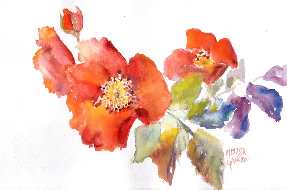 """Roses & Orange"" original fine art by Melissa Gannon"