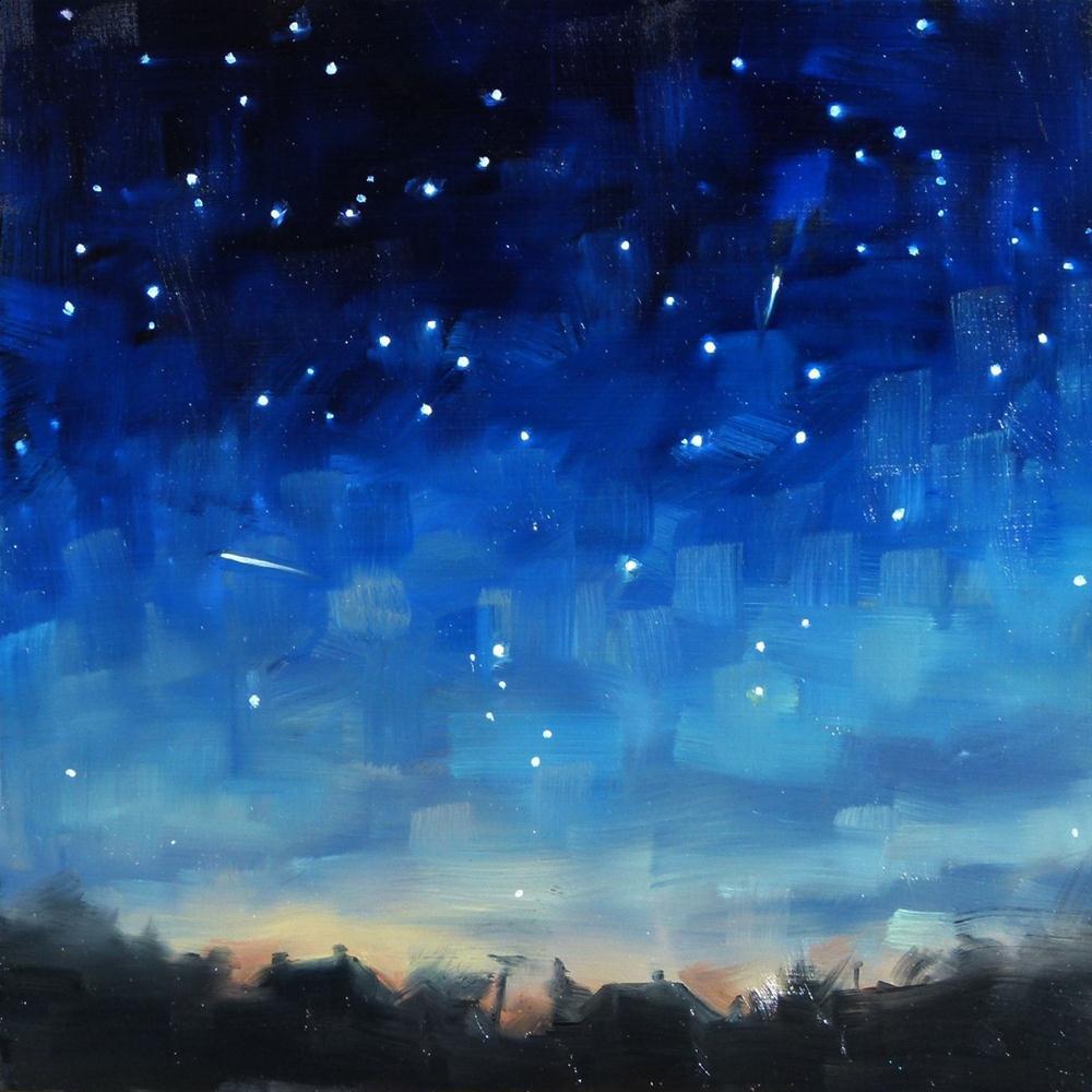 """""""Lyrid Meteors"""" original fine art by Deb Anderson"""