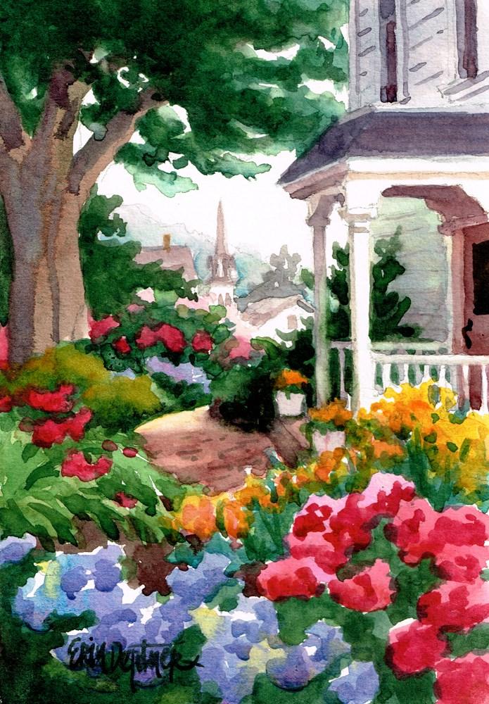"""""""Victorian Garden"""" original fine art by Erin Dertner"""