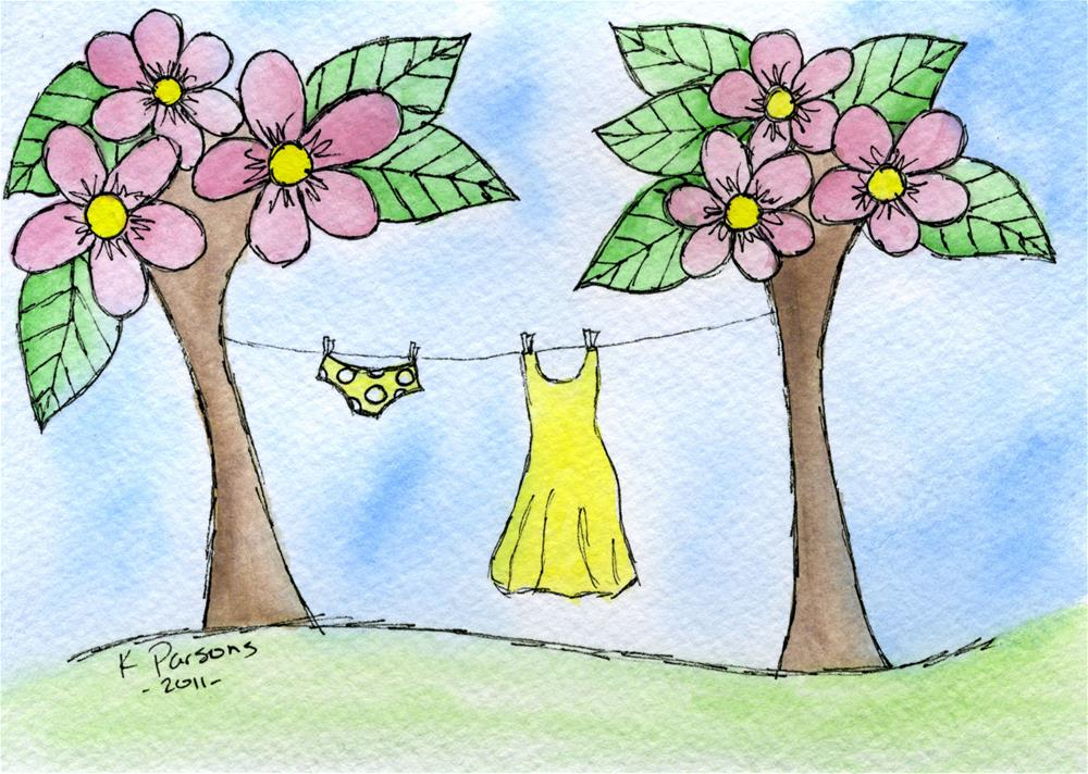 """""""Hung out to Dry"""" original fine art by Kali Parsons"""