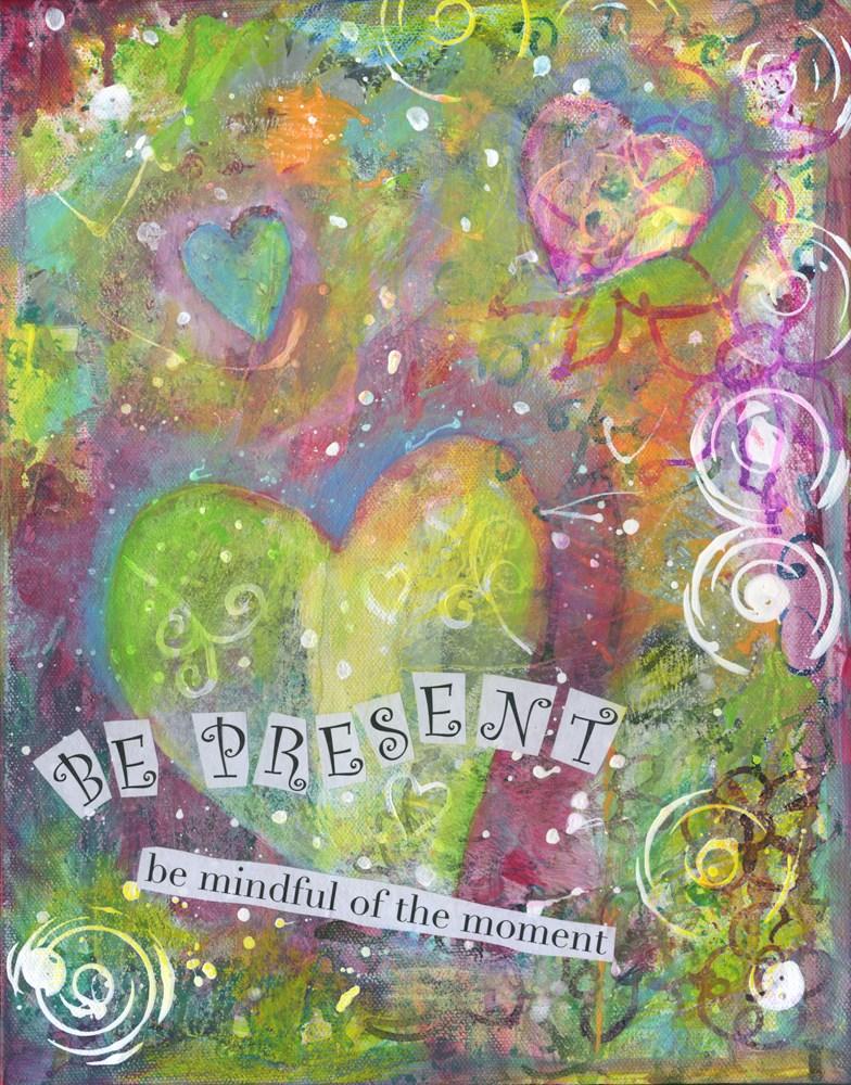 """Be Present"" original fine art by Kali Parsons"