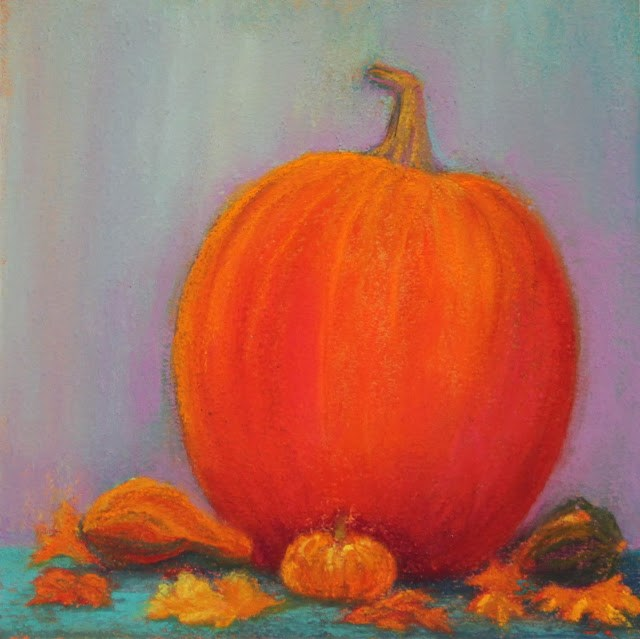 """Thanksgiving Harvest"" original fine art by Sharon Lewis"