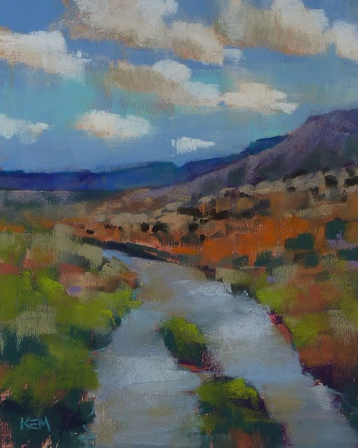 """""""Love New Mexico? Check Out this Blog"""" original fine art by Karen Margulis"""