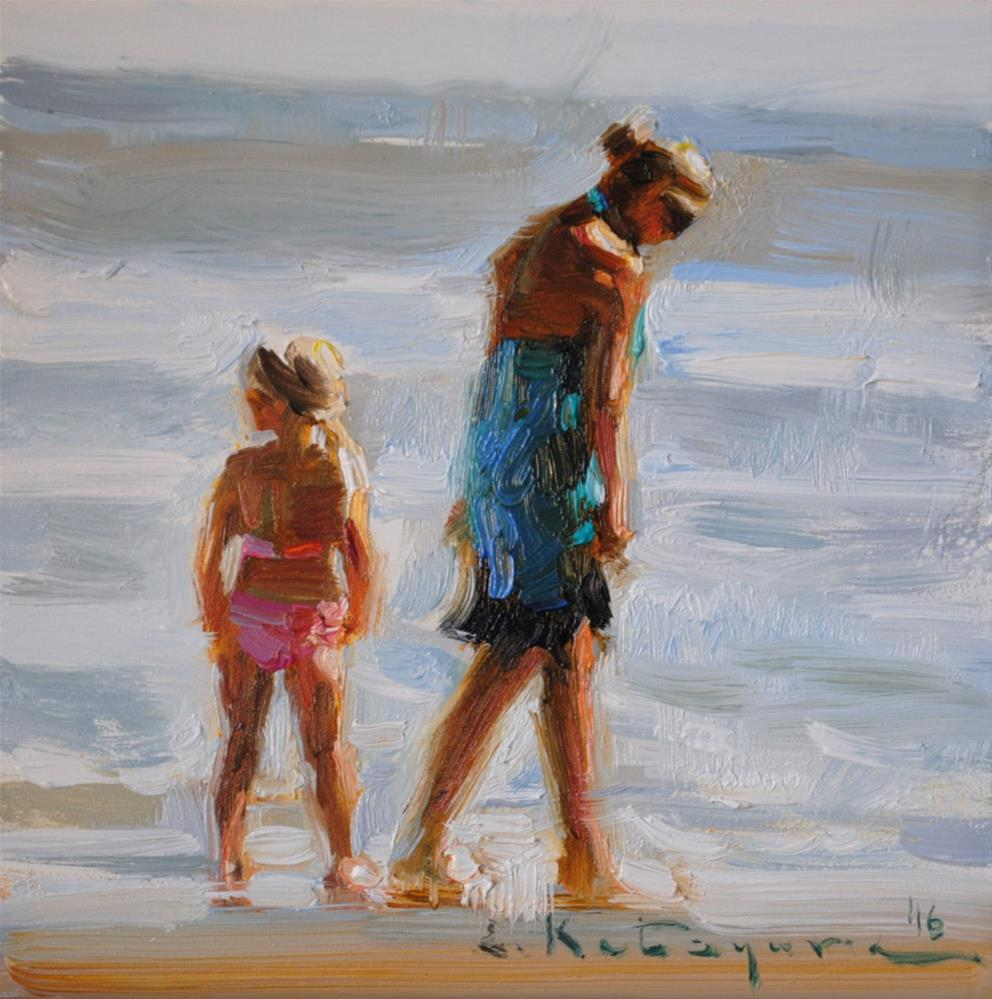 """Seaside Stroll"" original fine art by Elena Katsyura"
