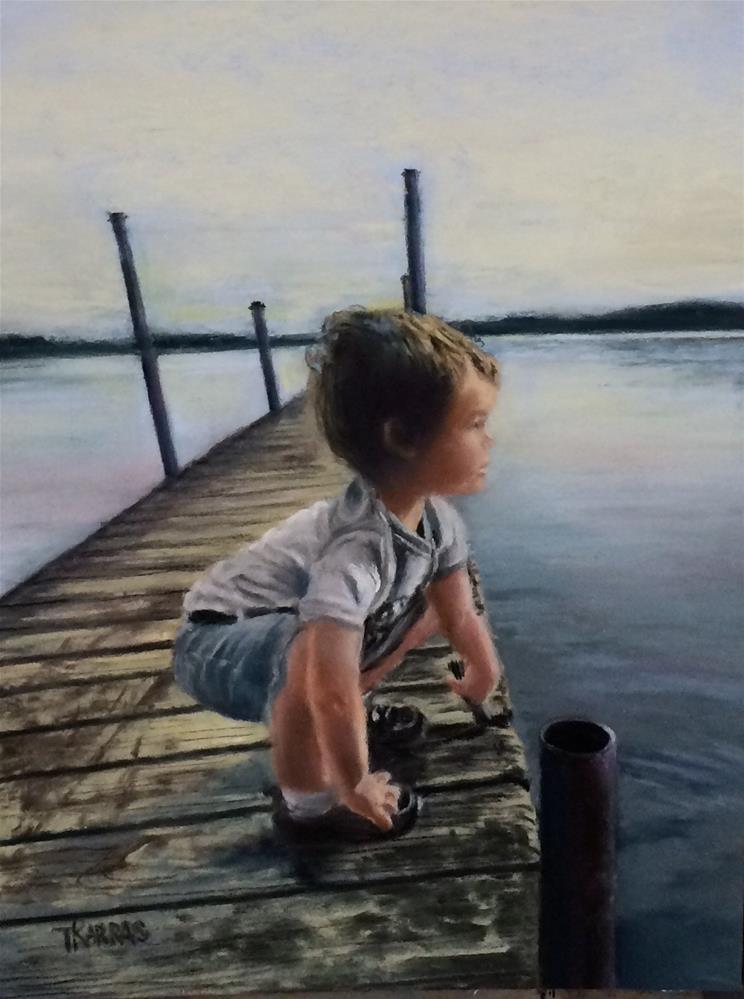"""A Boy and his Butterfly Net"" original fine art by Christina Karras"