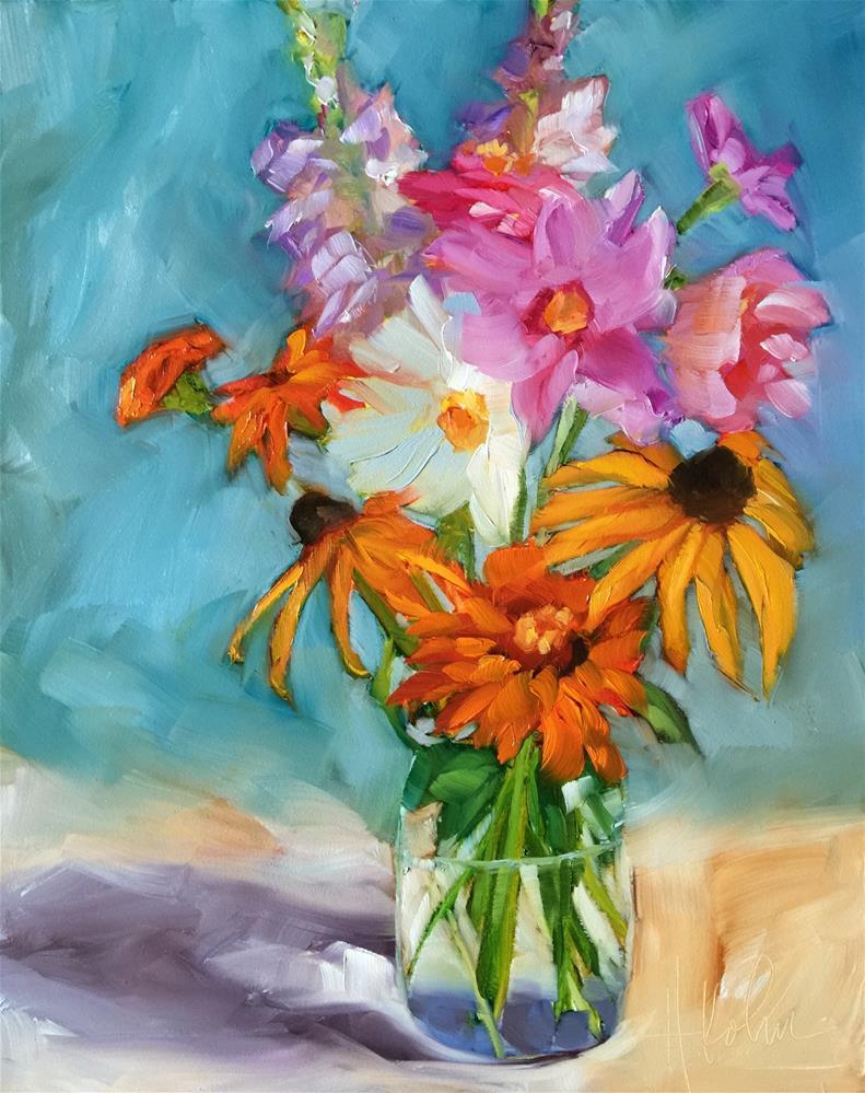 """""""Garden Gems"""" original fine art by Hallie Kohn"""