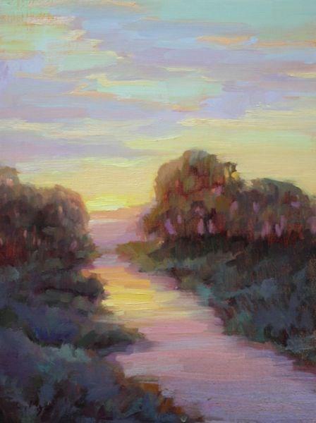 """Sundown"" original fine art by Carol Myer"