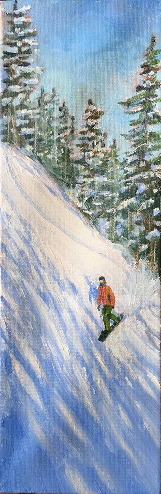 """Steep hill"" original fine art by Natasha Ramras"
