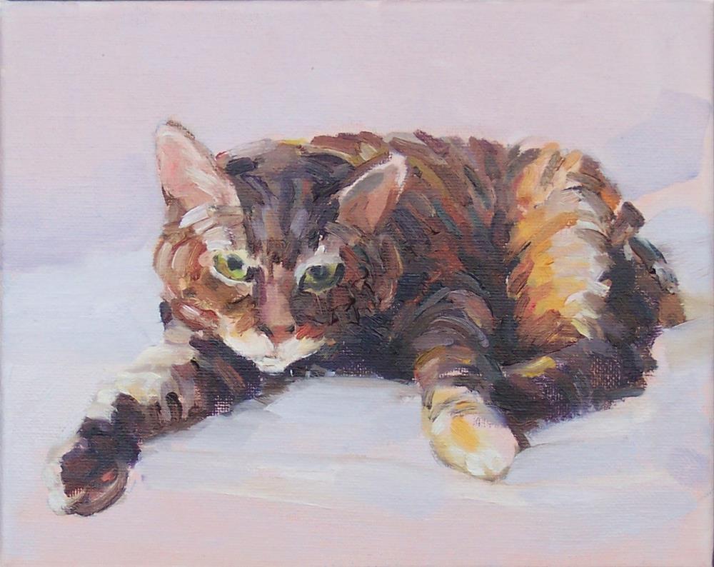 """Annie,figure,oil on canvas,8x10,price,$300"" original fine art by Joy Olney"