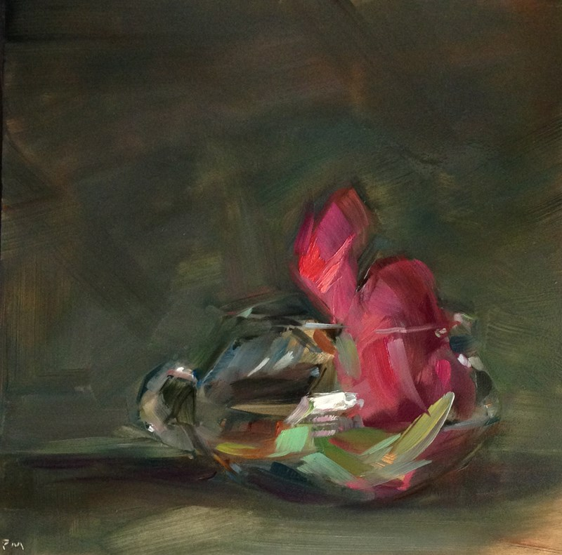 """Emperor Peony Punch"" original fine art by Patti McNutt"