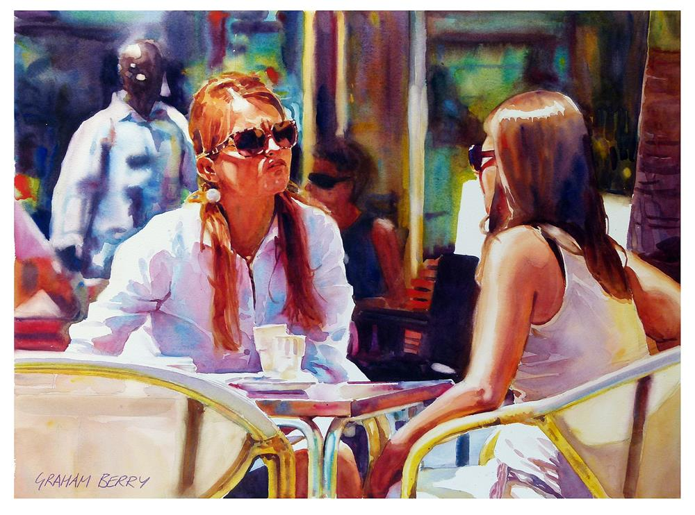 """""""Coffees in the sun."""" original fine art by Graham Berry"""