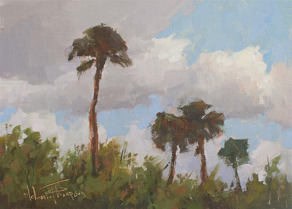 """""""Palm Breeze"""" original fine art by Melanie Thompson"""