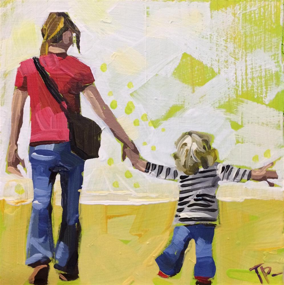 """Watch This Mom"" original fine art by Teddi Parker"