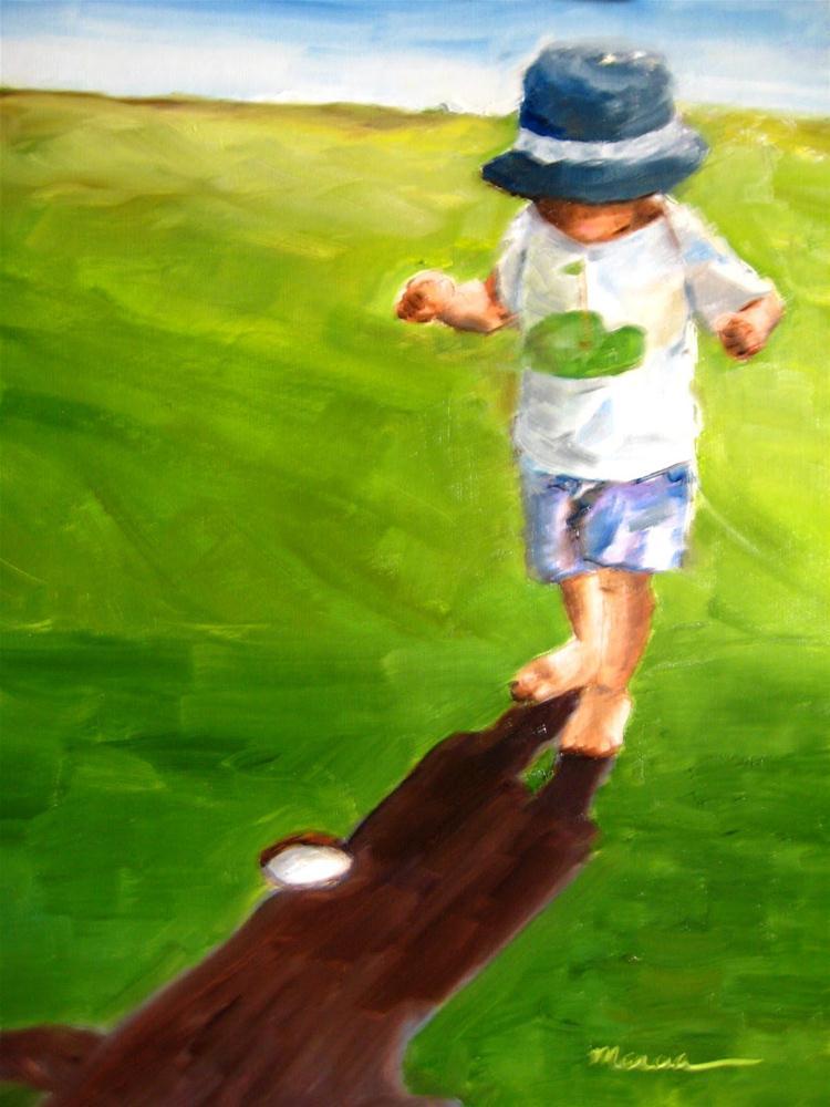 """Where Did It Go?"" original fine art by Marcia Hodges"
