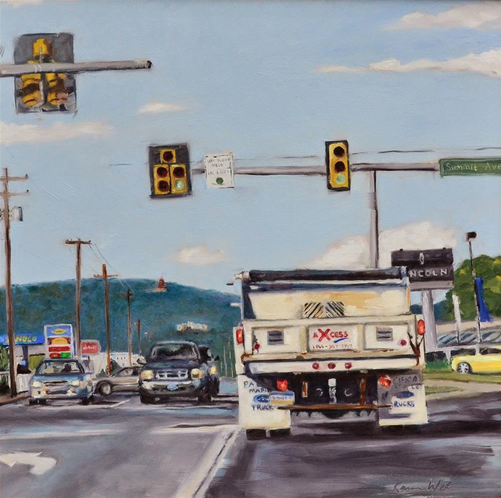 """""""Winning entry for the Axcess Benefactor Award"""" original fine art by Karen Weber"""