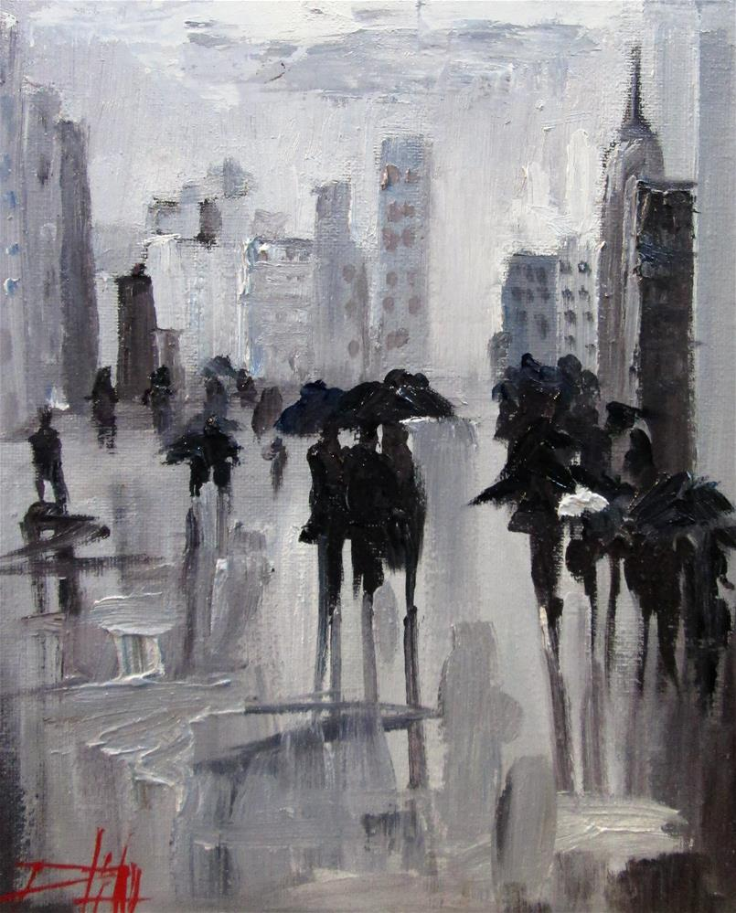 """Urban Gray"" original fine art by Delilah Smith"