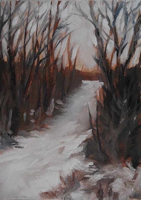 """Winter Light"" original fine art by J M Needham"