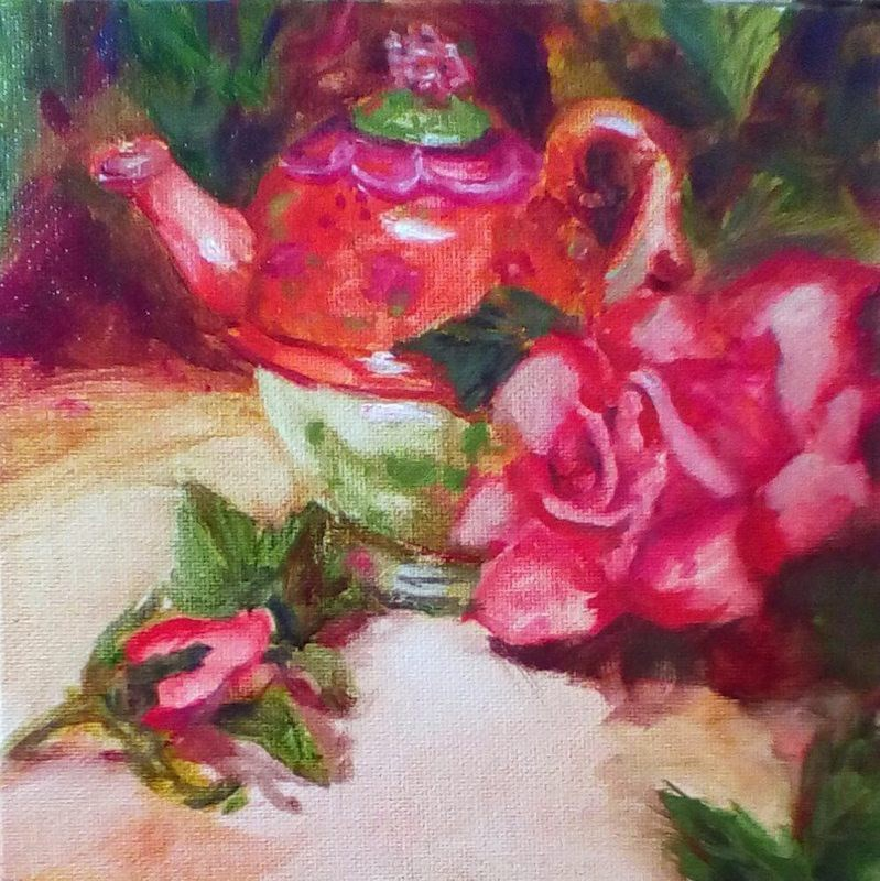 """Sweet Chai Tea"" original fine art by Kathleen Barnes"