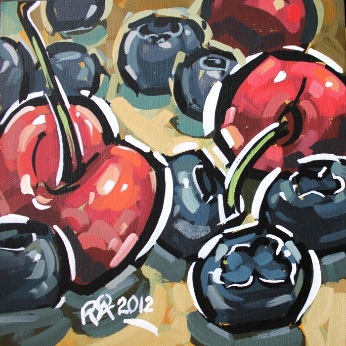 """Healthy snacks 3"" original fine art by Roger Akesson"