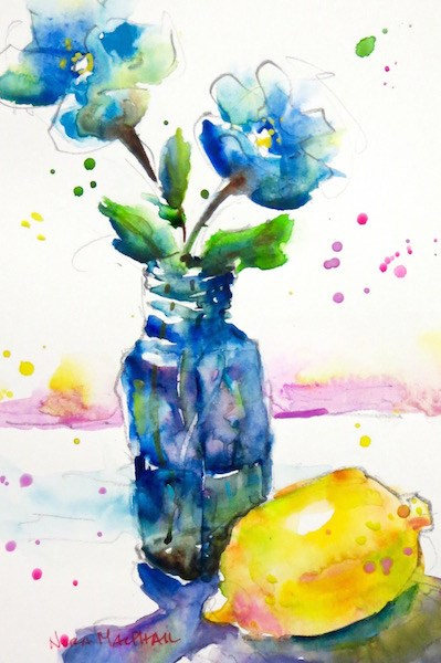 """""""simply there"""" original fine art by Nora MacPhail"""