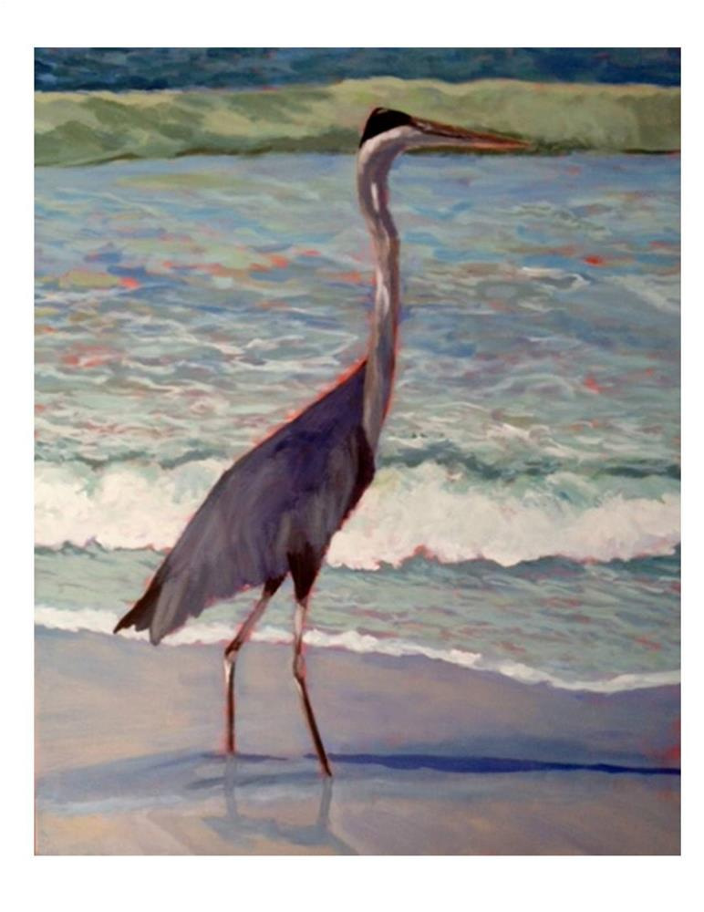 """Great Blue Heron"" original fine art by Suzanne Woodward"
