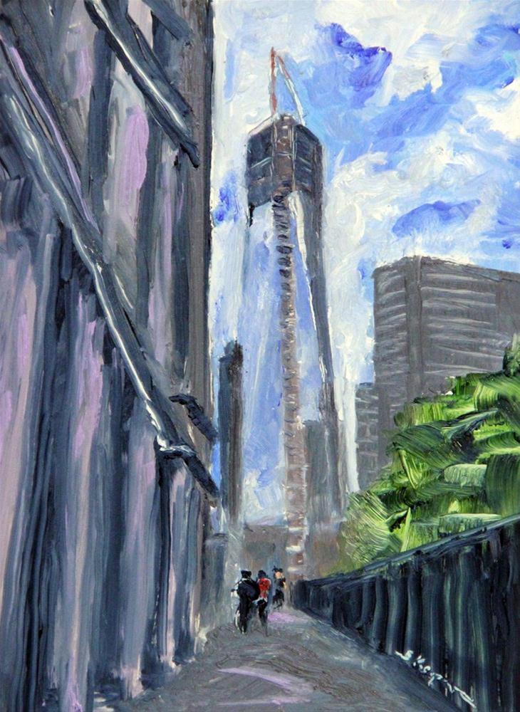"""""""One World Trade Center"""" original fine art by Shelley Koopmann"""