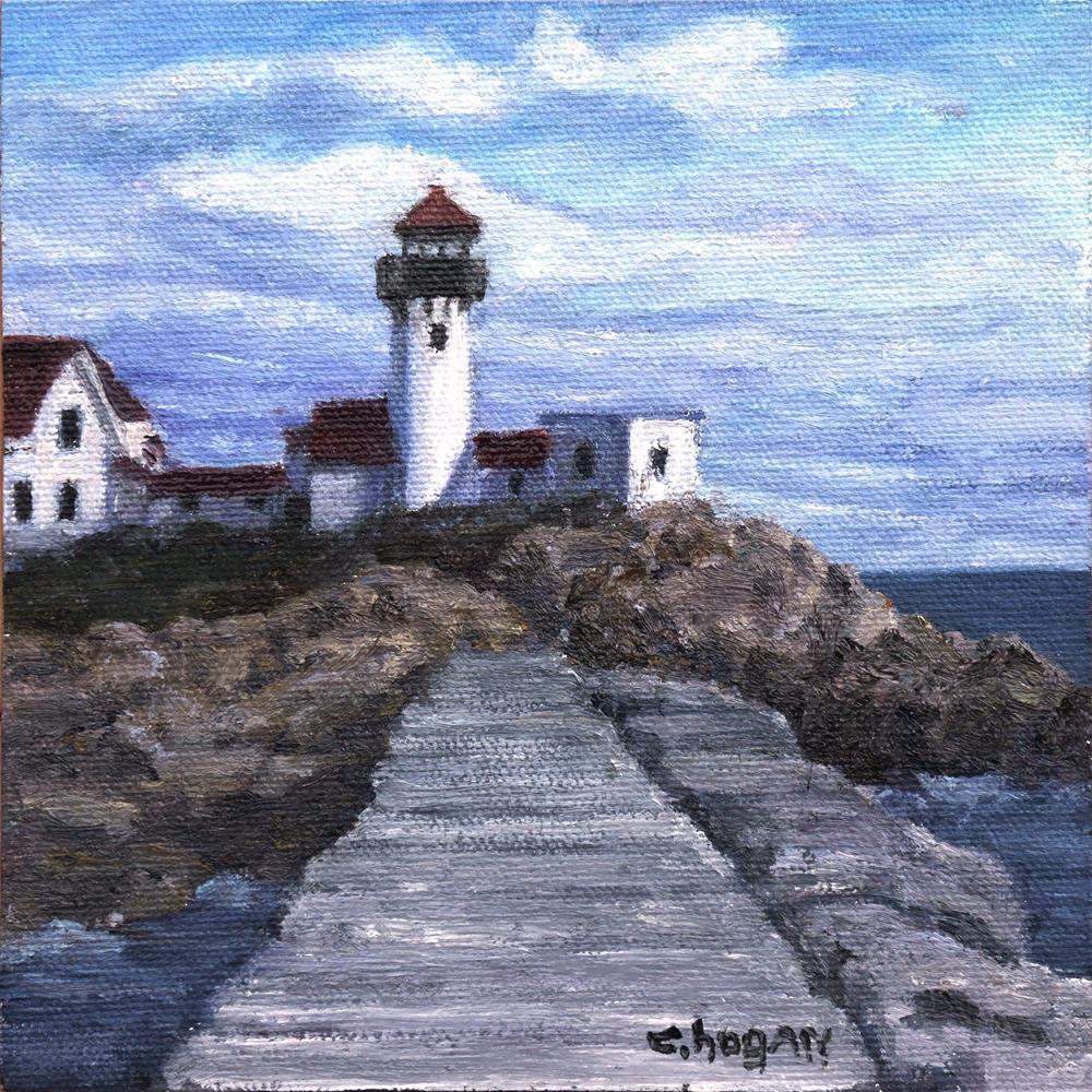 """Eastern Point Lighthouse"" original fine art by Candi Hogan"