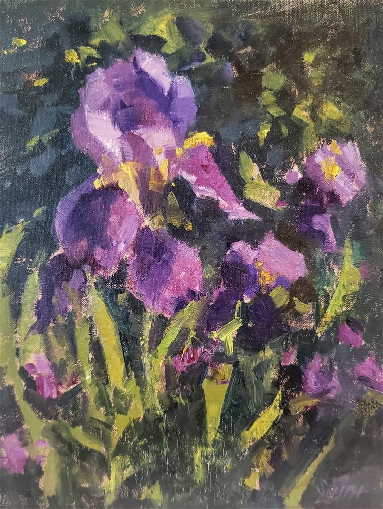 """Iris on Display "" original fine art by Barbie Smith"