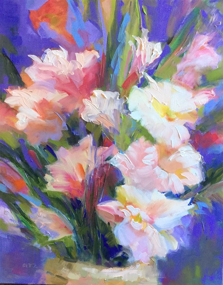 """Colorful Glads 1"" original fine art by Charlotte Fitzgerald"